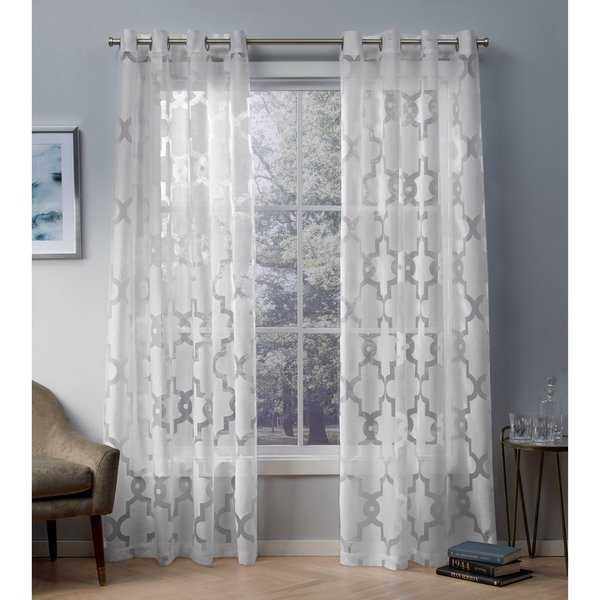 ATI Home Essex Geometric Sheer Grommet Top Curtain Panel Pair