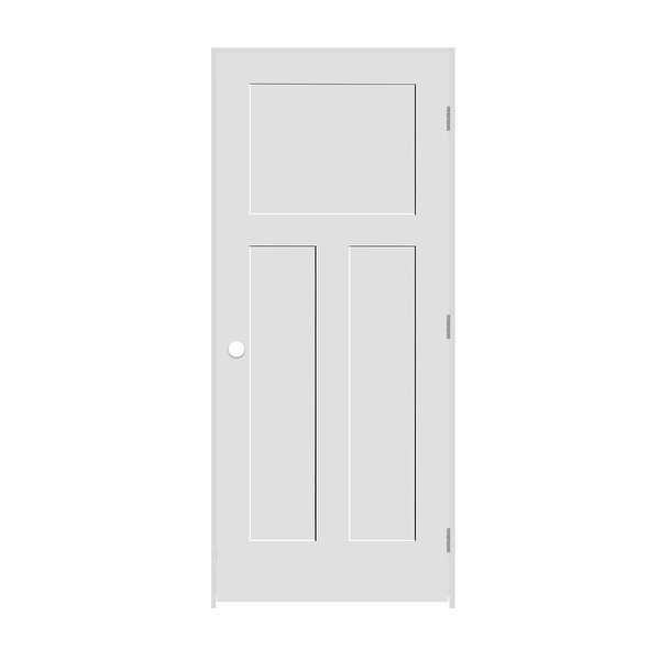 Trimlite 2868138-8403LH26D6916 32' by 80' Shaker 1+2-Panel Left Handed Interior - Primed - N/A