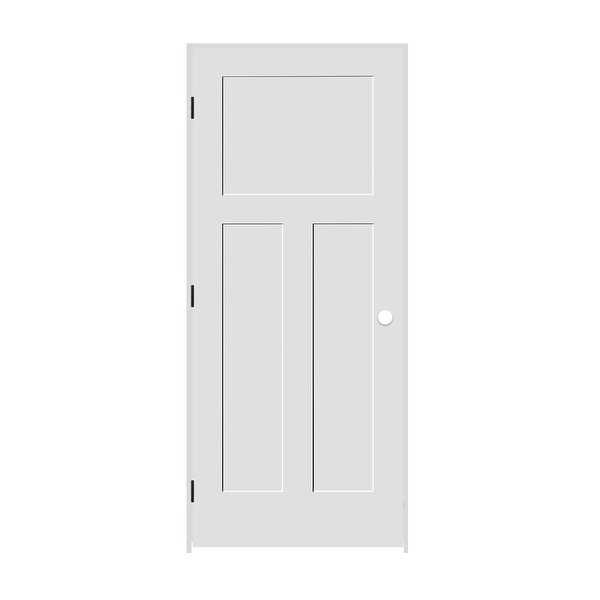 Trimlite 2668138-8403RH1D4916 30' by 80' Shaker 1+2-Panel Right Handed Interior - Primed - N/A