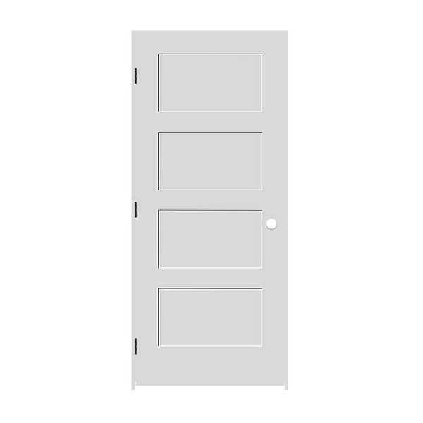 Trimlite 1668138-8444RH10B714 18' by 80' Shaker 4-Panel Right Handed Interior Pr - Primed - N/A