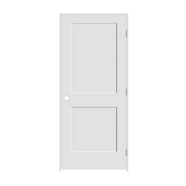 Trimlite 2868138-8402LH26D714 32' by 80' Shaker 2-Panel Left Handed Interior Pre - Primed - N/A