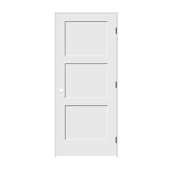 Trimlite 2268138-8433LH10B4916 26' by 80' Shaker 3-Panel Left Handed Interior Pr - Primed - N/A